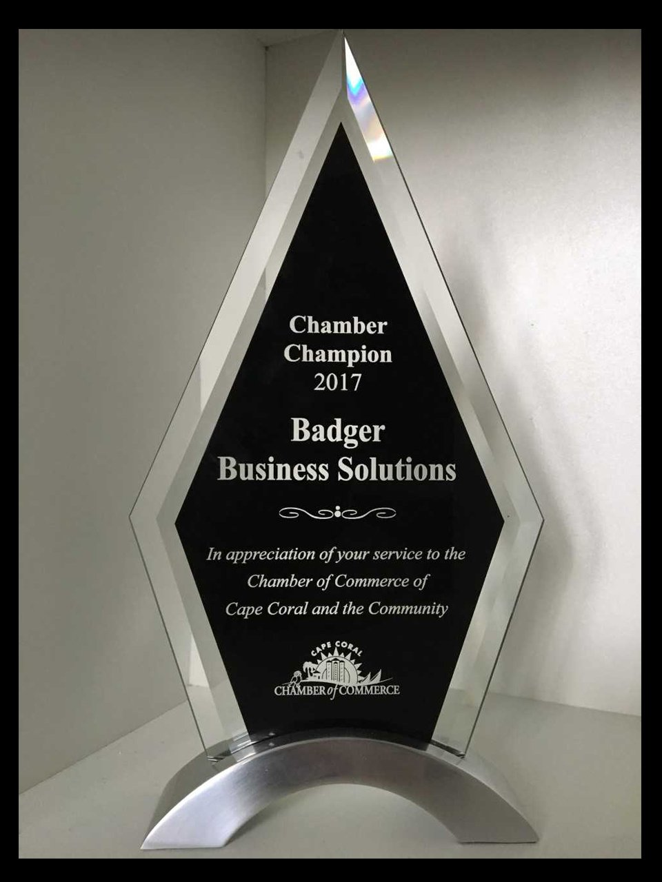 Chamber Award - Badgers Business Solutions